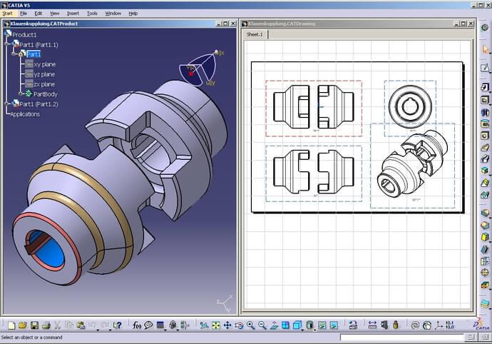 Technická dokumentace, 3D model, Catia, Siemens NX, Autocad