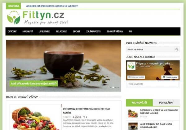 Publikace článku na lifestyle magazínu fittyn.cz