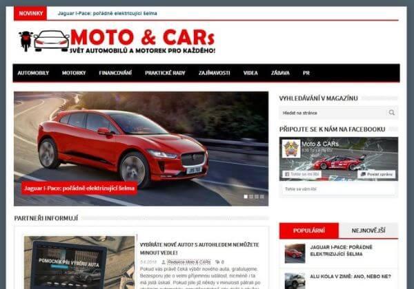 Publikace článku v auto-moto magazínu motocars.cz