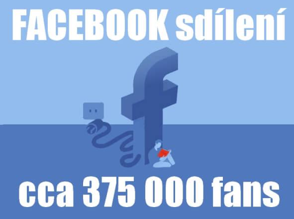 Facebook sdílení | 375 000 fans