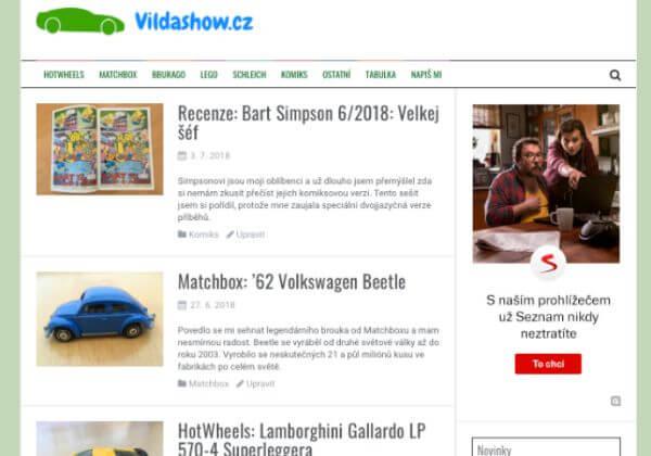 Publikace PR článku v magazínu pro děti vildashow.cz