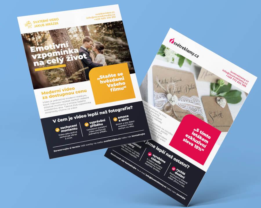 Kvalitní reklamní letáky, poukázky, pozvánky a další