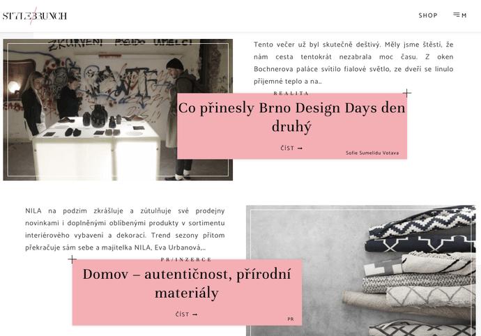 PR článek na www.stylebrunch.cz