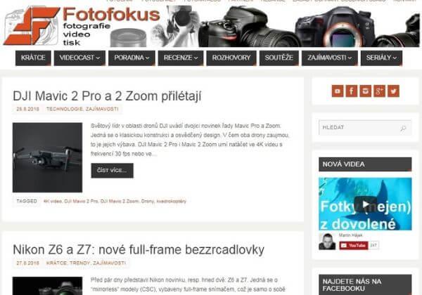 Publikujeme váš článek na webu o fotografii Fotofokus.cz