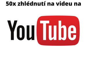 50x zhlédnutí videa na youtube od  Českých uživatelů