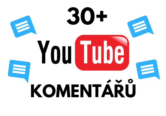 30+ komentářů na youtube od Českých uživatelů