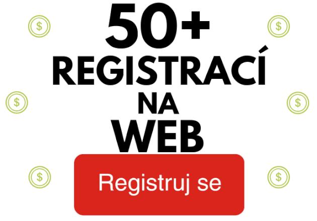 50x registrace na webu od Českých uživatelů