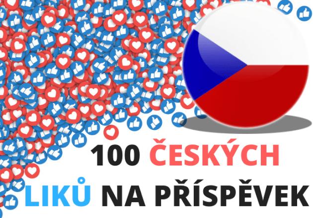 100+ like příspěvku od ČESKÝCH UŽIVATELŮ