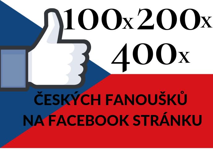 100 - 400 českých fanoušků na facebook stránku