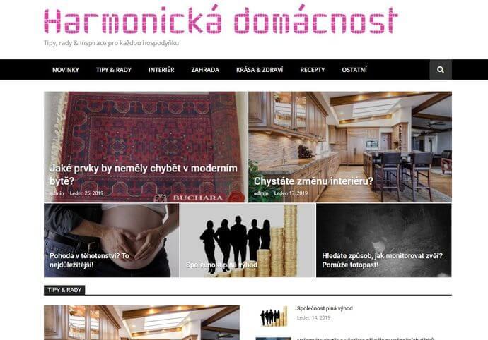 Publikace na Harmonickadomacnost.cz