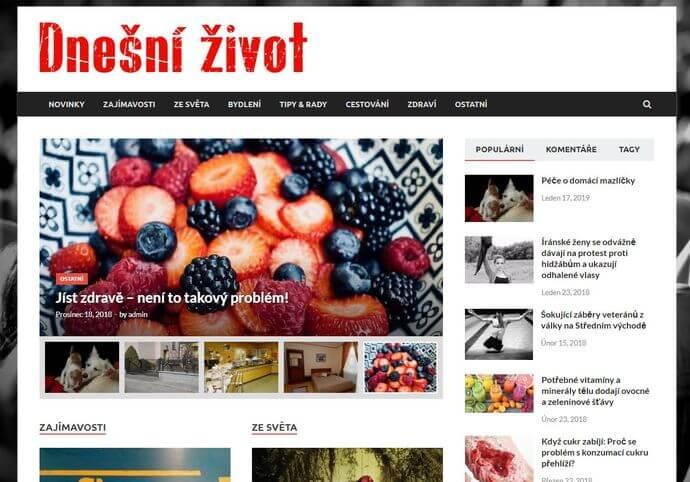 Publikace na Dnesnizivot.cz