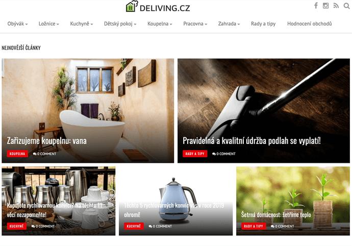 Zpětný odkaz na www.deliving.cz na 1 rok