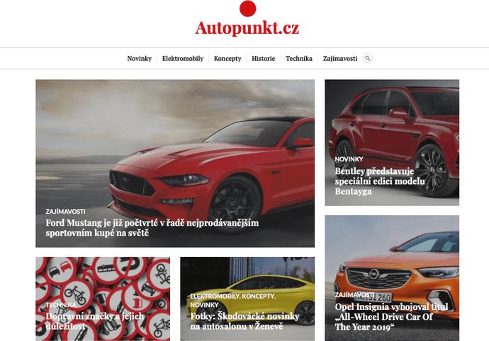 Publikace PR článku v auto-moto magazínu