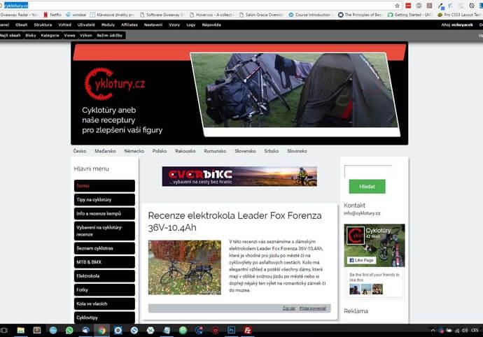 Banner na webu cyklotury.cz