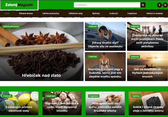 PR článek na webu o zdraví. 100% ceny investuji do propagace