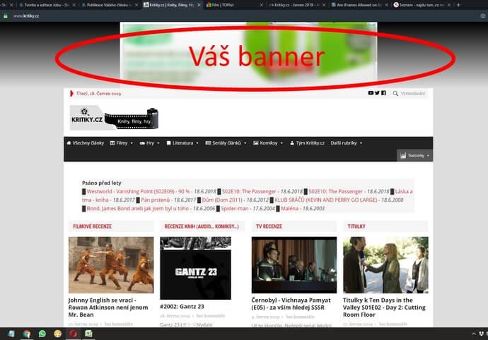 Banner 970x210 na Kritiky.cz za 5 000 zobrazení