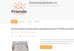 Publikace PR článku na webu friendsandrebels.cz s vysokou DA