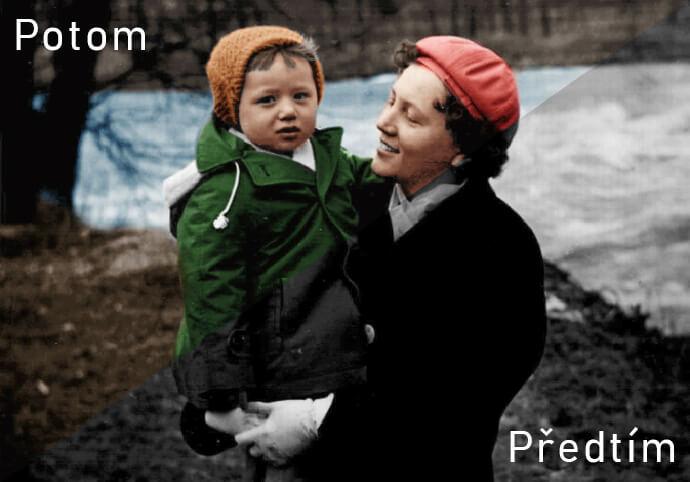 Nabarvím Vaše staré ČERNOBÍLÉ fotografie
