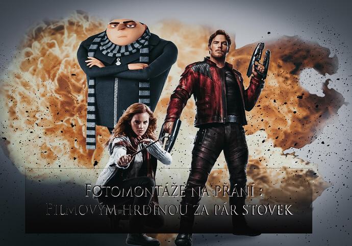 Fotomontáže- Udělám z vás hrdinu z plakátu