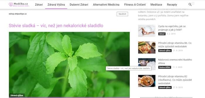 Vložení PR článku na web medicka.cz