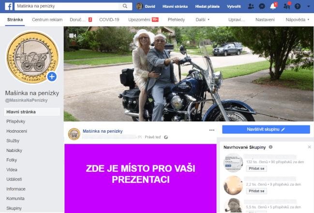 Připnutý příspěvek na FB stránku o podnikání