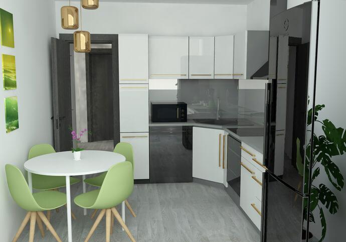 Návrh 3d interiéru izby, miestnosti do 40m2