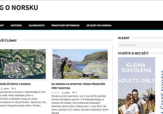 Nabízím publikaci článku na webu do-norska.cz