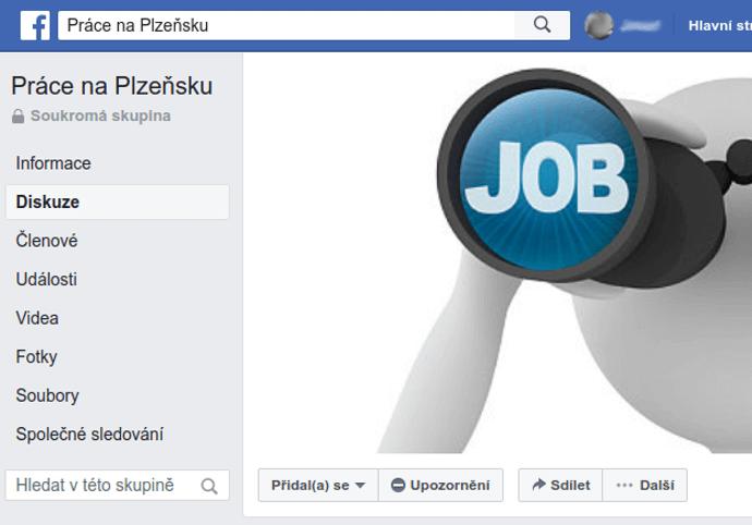 Připnutí Vašeho inzerátu na FB skupině s pracovními inzeráty
