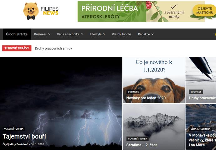 Zveřejnění PR článků - filipesnews.cz