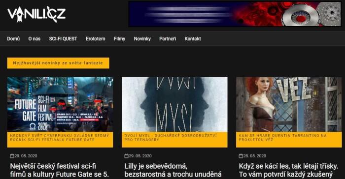 PR článek na Vanili.cz (založeno v roce 2006)