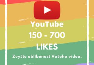 150 až 700 likes pro Vaše video na YouTube