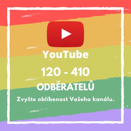 120 až 410 odběratelů pro Váš účet na YouTube