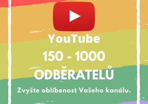 150 až 1000 odběratelů pro Váš účet na YouTube