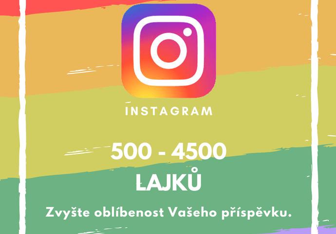 500 až 4500 lajků na Vašem příspěvku na Instagramu