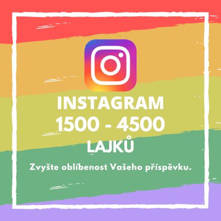 1500 až 4500 lajků na Vašem příspěvku na Instagramu
