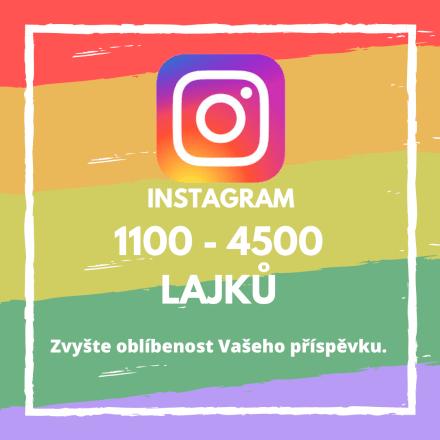1100 až 4500 lajků na Vašem příspěvku na Instagramu