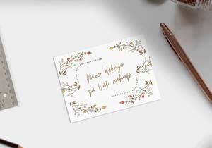 Děkovné / děkovací kartičky