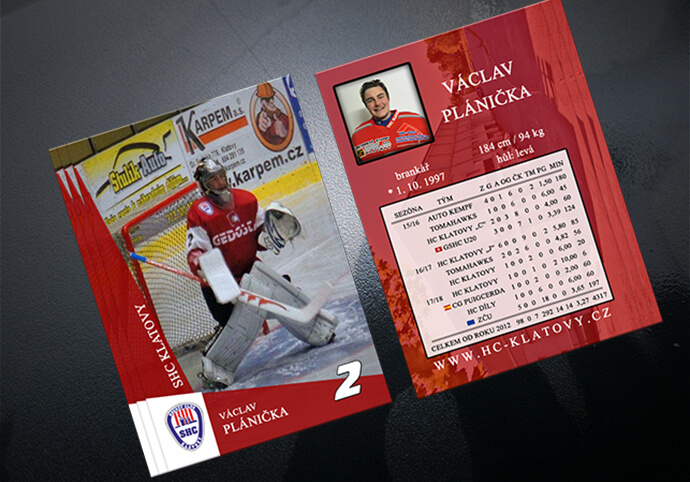 Grafický podklad pro sportovní kartičku