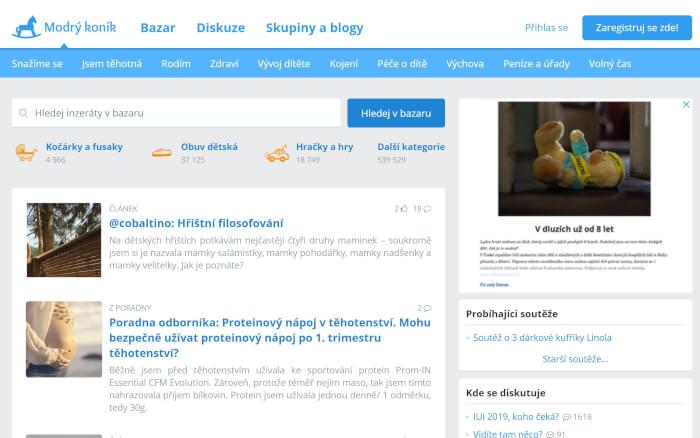 Článek na Modrém koníku, web s 1.2 milionem návštěv, DA 44