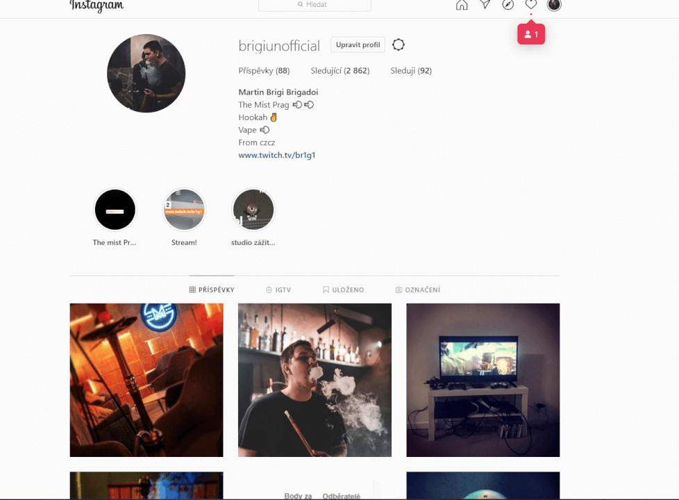 Propagace na instagramu