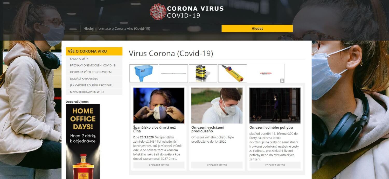 PR článek na Coronavirus-covid-19.cz + FB sdílení (70tis)