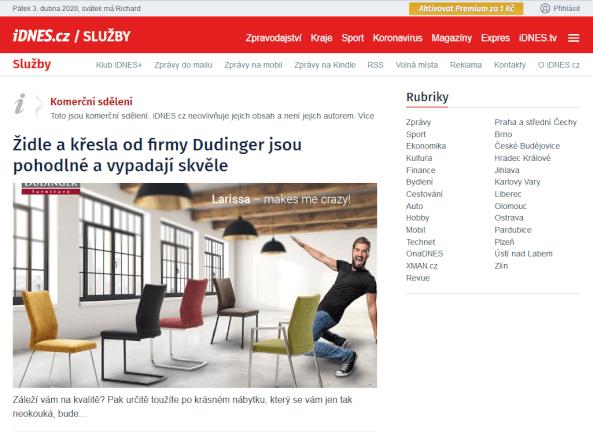 PR článek na iDnes.cz