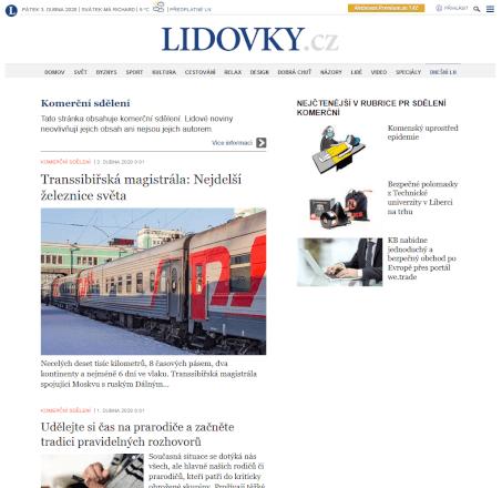 PR Článek na Lidovky.cz