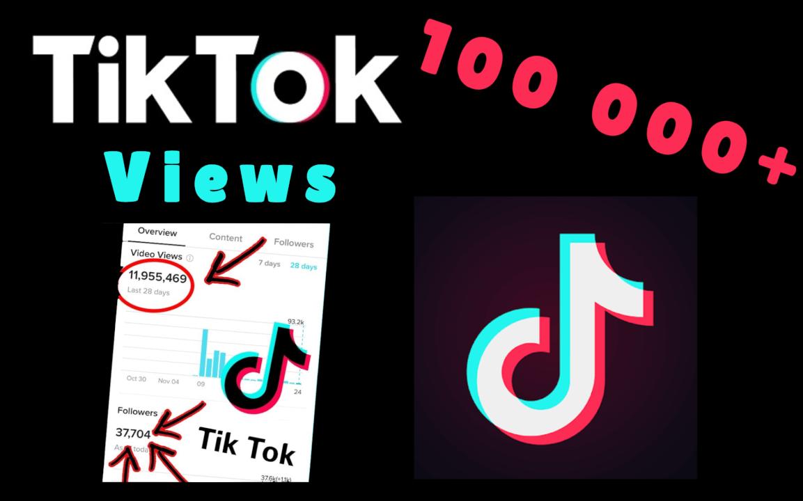 TikTok Views 100 000+