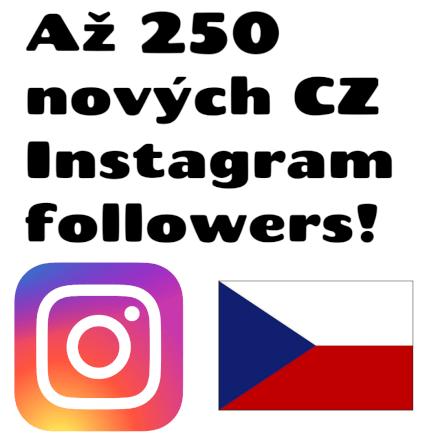 Až 150 nových CZ followers pro tvůj Instagram!