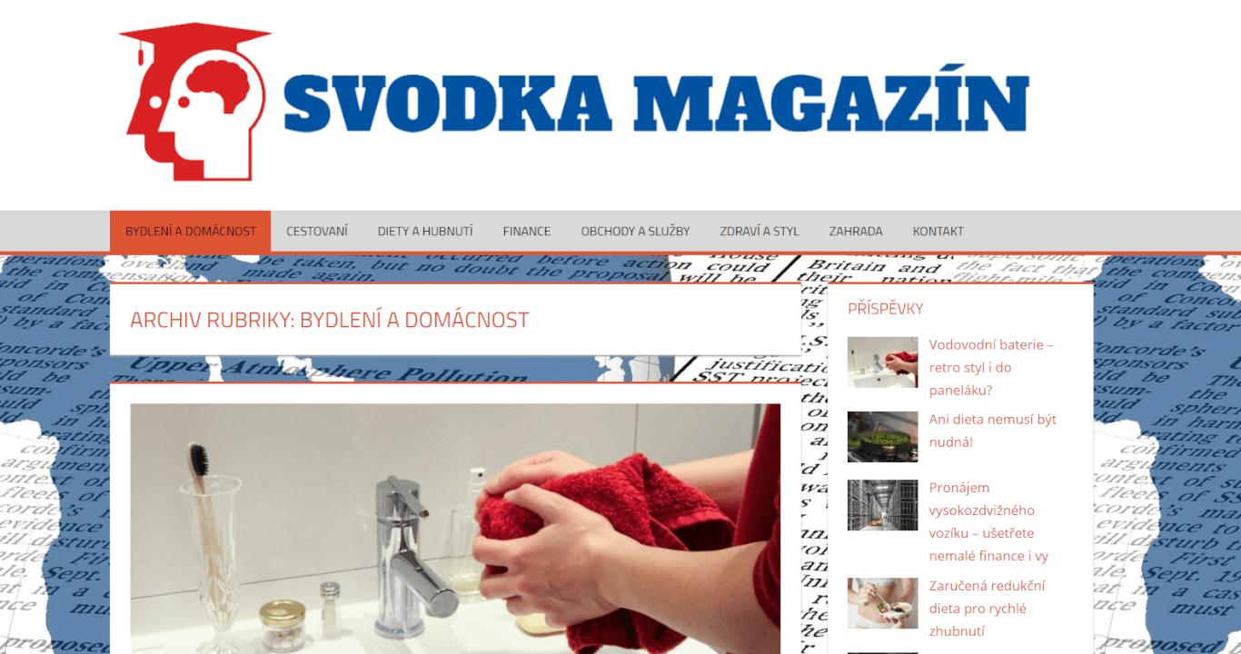 Publikace článku na magazínu svodka.cz