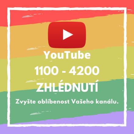 1100 až 4200 zhlédnutí pro Vaše video na YouTube
