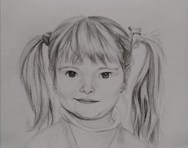 Portrétní kresba, ruční kresba, tradiční ilustrace