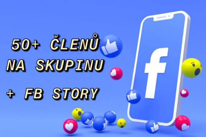 50+ nových členů pro FB skupinu + sdílení do story (CZ/SK)
