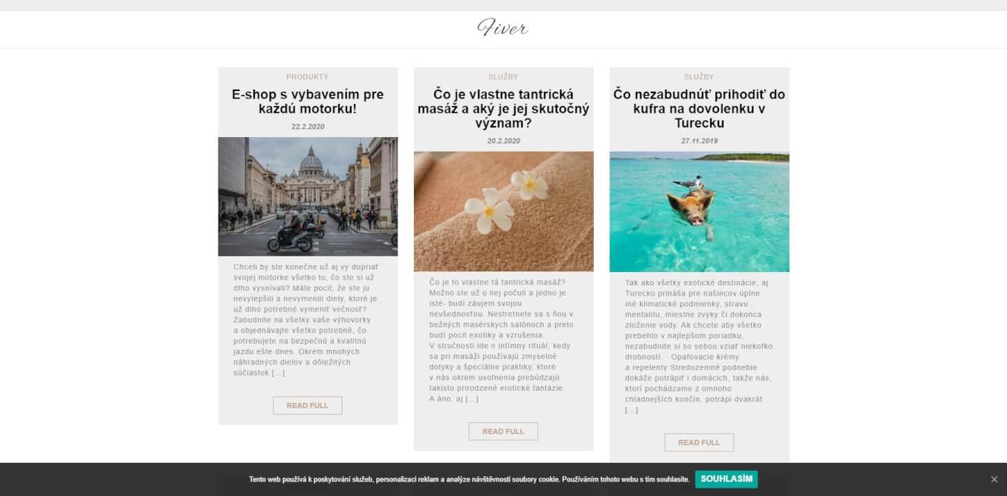 Publikace PR článku do magazínu fiver.sk